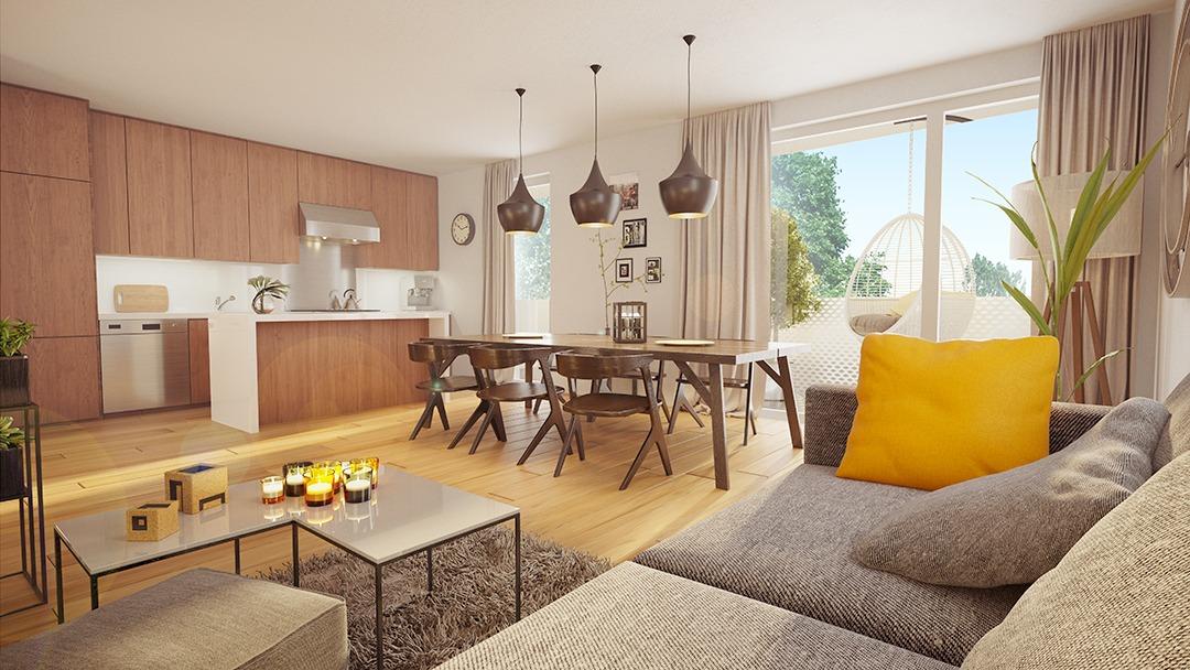 Projet immobilier à Mittelhausbergen – Perspective 3D