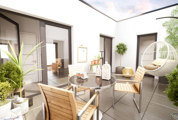 ORIGIN - modélisation 3D d'une terrasse